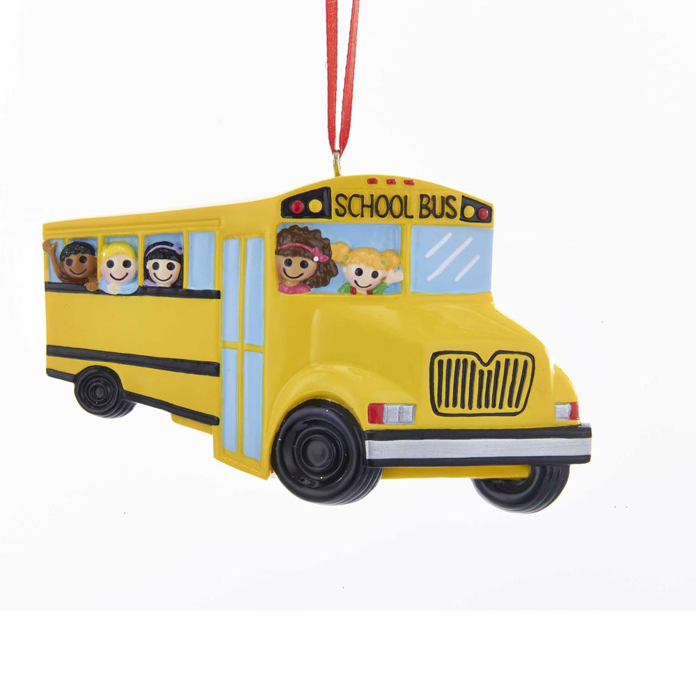 Kurt Adler School Bus Ornament For Personalization, W8401