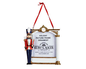 Nutcracker Soldier Picture Frame Ornament For Personalization