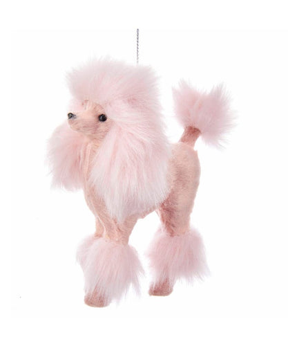 Plush Pink Poodle Dog Ornament, C4823