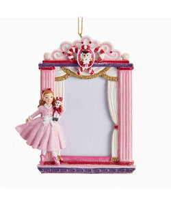 Clara Nutcracker Picture Frame Ornament, C7613