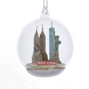 Kurt Adler New York City Landmark Glass Ball Ornament, C8948NY