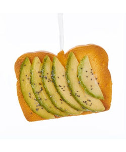 Foam Avocado Toast Ornament, D3453