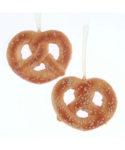 Bavarian New York Pretzel Ornament, 2 Assorted, D3715