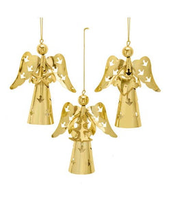 Gold Angel Ornaments, 3 Assorted, D3911