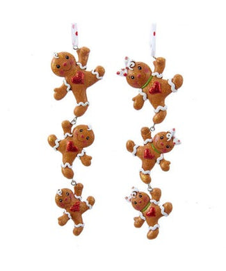 Gingerbread Boy and Girl String Ornaments, 2 Assorted, H5031