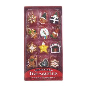 Miniature gingerbread ornaments