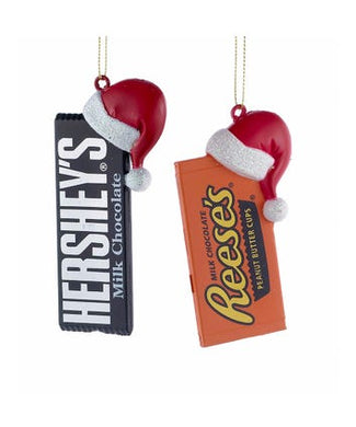 Hershey™ Bar With Hat Ornaments, 2 Assorted