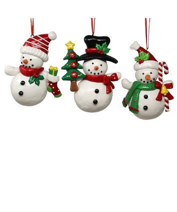 Snowman Ornaments, 3 Assorted, J5057