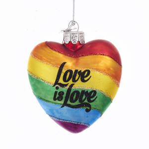 Love is Love Rainbow Heart Ornament