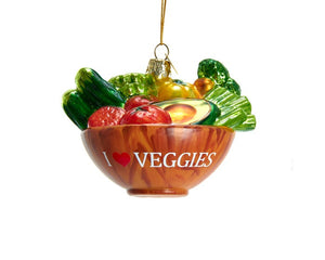 Noble Gems™ Glass Vegetable Bowl Ornament