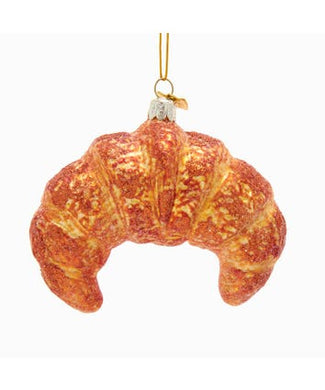 Noble Gems™ Croissant Pastry Glass Ornament
