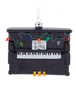 Noble Gems™ Upright Piano Carnegie Hall Glass Ornament, NB1554