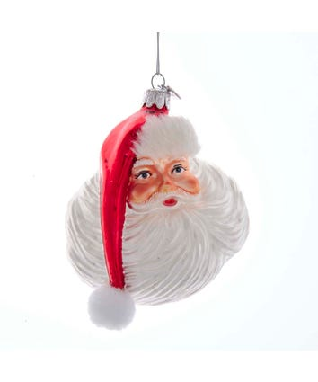 Noble Gems™ OLD WORLD Santa Face Glass Ornament, NB1573
