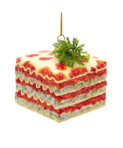 Noble Gems™ Italian Lasagna Glass Ornament, NB1630