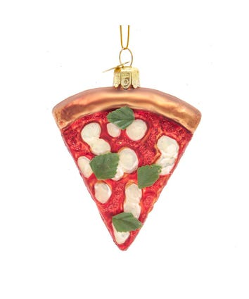 Noble Gems™ Italian Margherita Pizza Slice Glass Ornament, NB1642