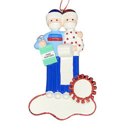 Rudolph and Me Quarantine Couple Ornament for Personalization, RM2085