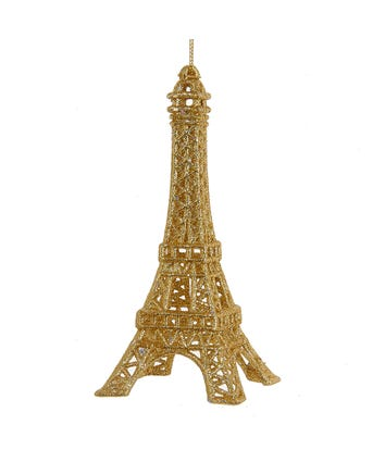 Gold Eiffel Tower Acrylic Ornament, t1332