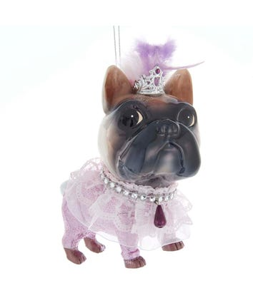 Glass Royal Pink Princes Ballet Splendor Dog Ornament, T2770