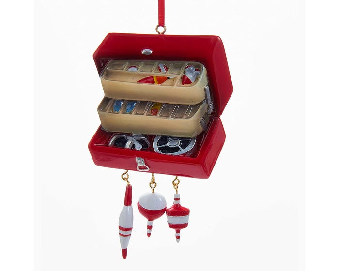 Tackle Box Ornament For Personalization