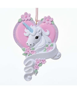 Unicorn Ornament For Personalization