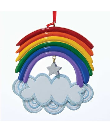 Rainbow Ornament For Personalization, W8292