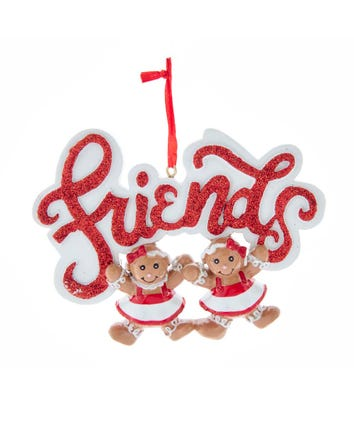 Gingerbread Girl 2 Friends Ornament For Personalization, W8494