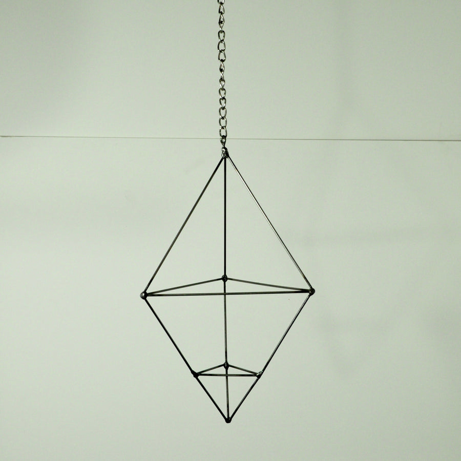 Hanging Air Plant Holder: Large Prism 12.5""