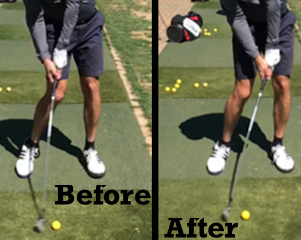 Before golf After