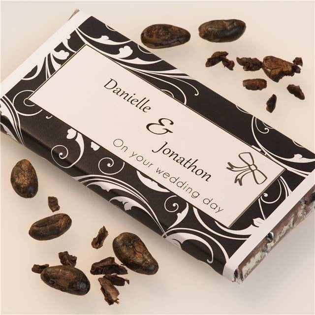 personalised wedding day chocolate bar
