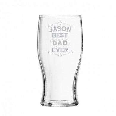 personalised best ever tulip shape beer glass