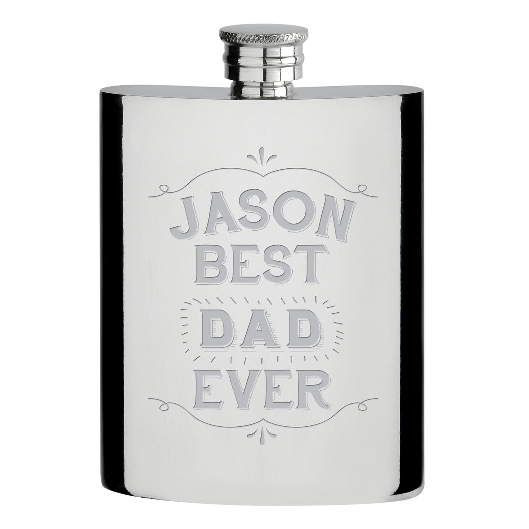personalised best ever hip flask