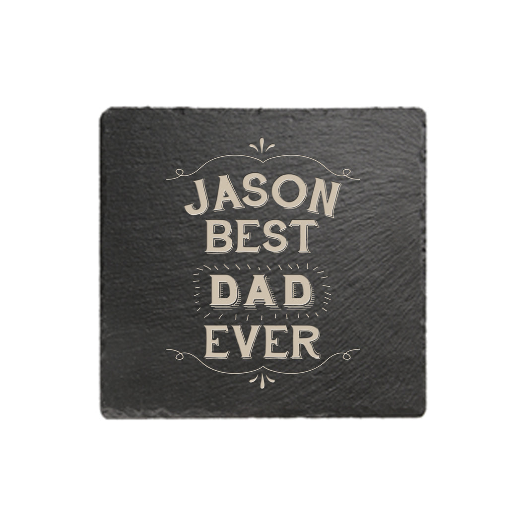 personalised best ever coaster