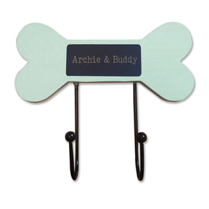 personalised dog lead neckerchief and hooks hanger