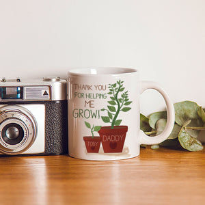personalised helping me to grow mug