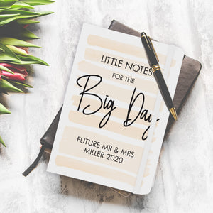 personalised little notes for the big day journal