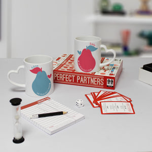 personalised perfect partners game set with mugs