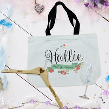personalised floral bridal party bag