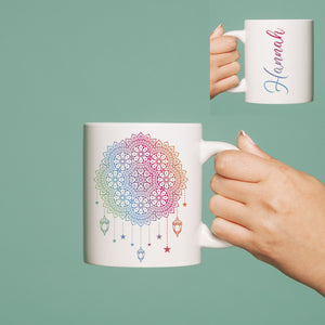 personalised dreamcatcher mug
