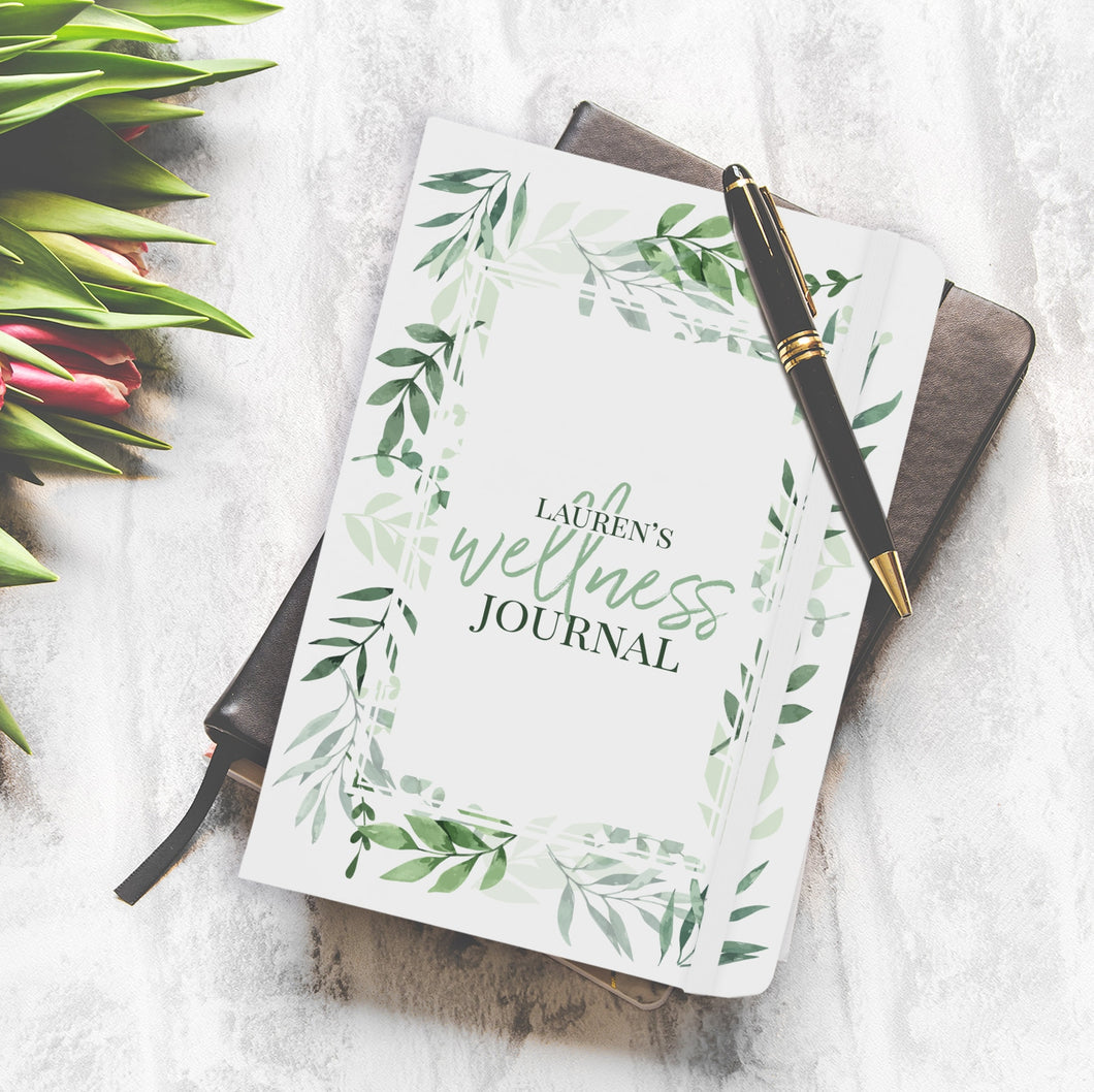 personalised floral wellness journal