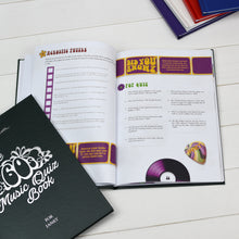 personalised sixties music quiz book