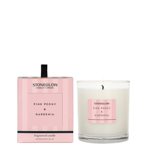 pink peony and gardenia candle