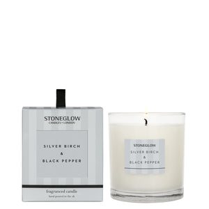 silver birch and black pepper candle