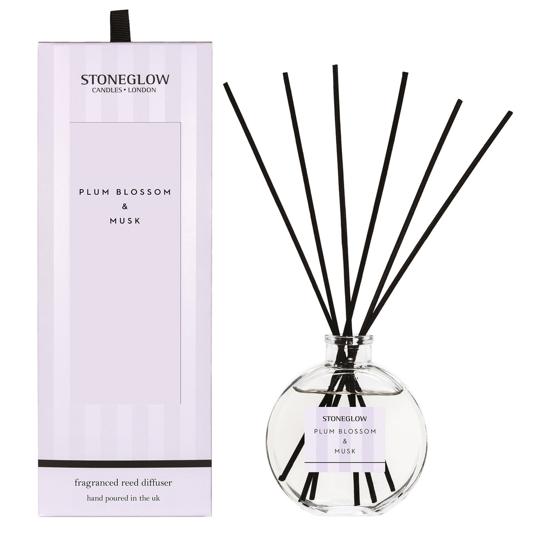 plum blossom and musk reed diffuser