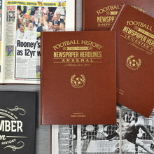 A3 Leatherette Football Newspaper Book With Colour Pages