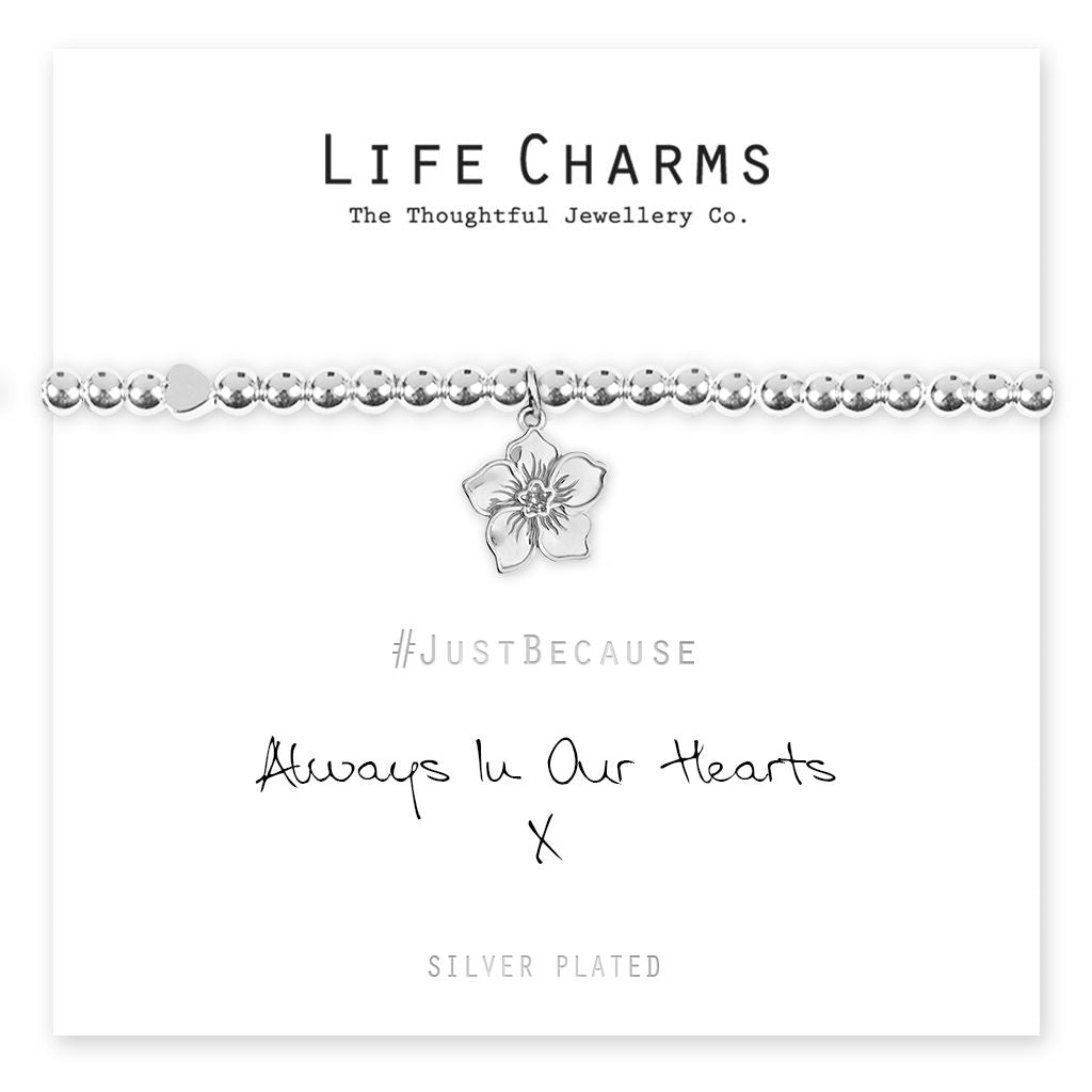 life charms always in our hearts bracelet