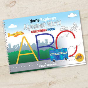 Alphabet World Personalised Colouring Book