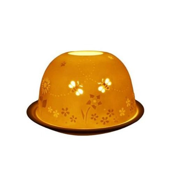 light glow busy bees tea light candle holder