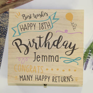 personalised birthday storage box
