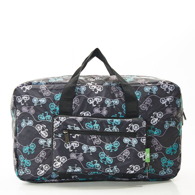 eco friendly bike print holdall