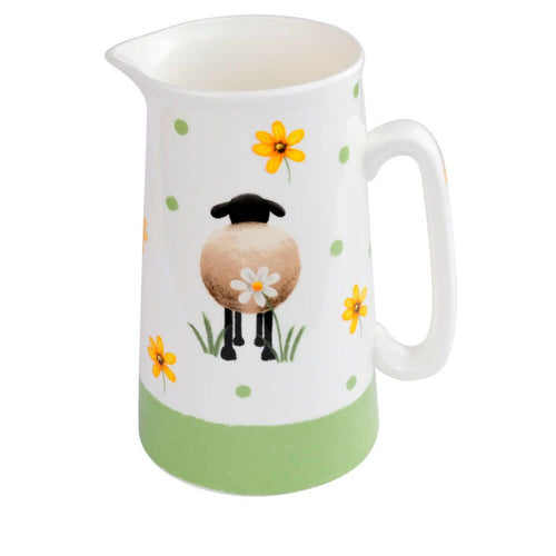 lucy pittaway sheep and daisy 2 pint jug